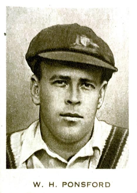 1934 Dudgeon & Arnell (Patrol Tobacco) #05 W H PONSFORD Australian Test Team Card