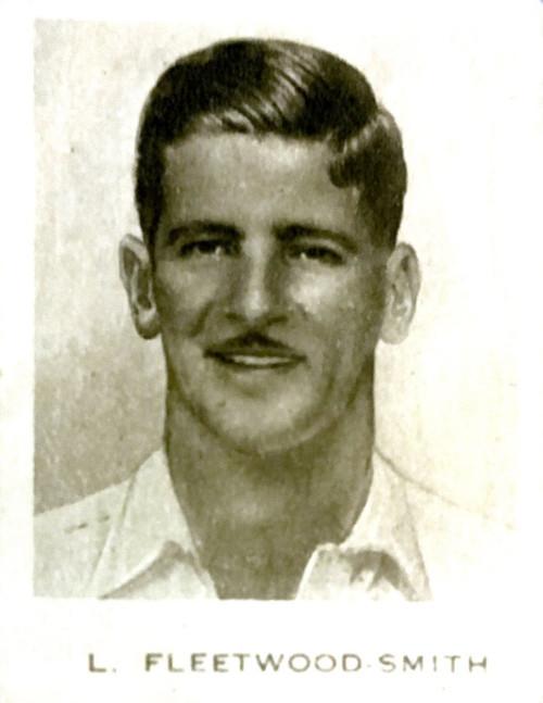 1934 Dudgeon & Arnell (Patrol Tobacco) #09 L FLEETWOOD-SMITH Australian Test Team Card