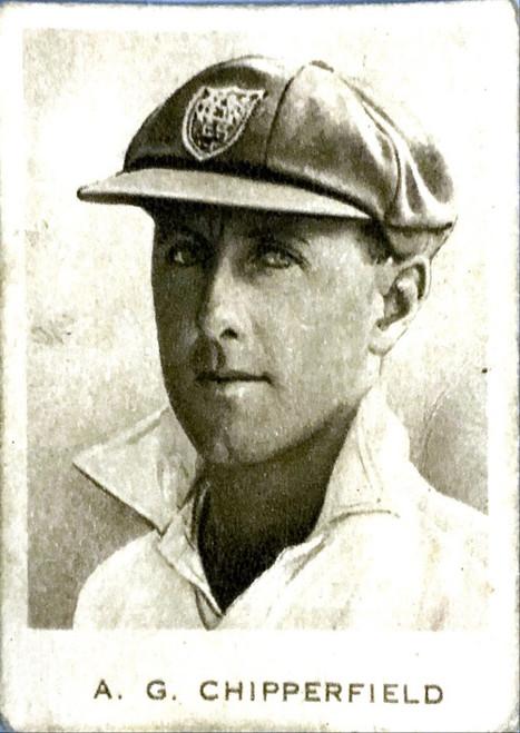 1934 Dudgeon & Arnell (Patrol Tobacco) #12 A G CHIPPERFIELD Australian Test Team Card