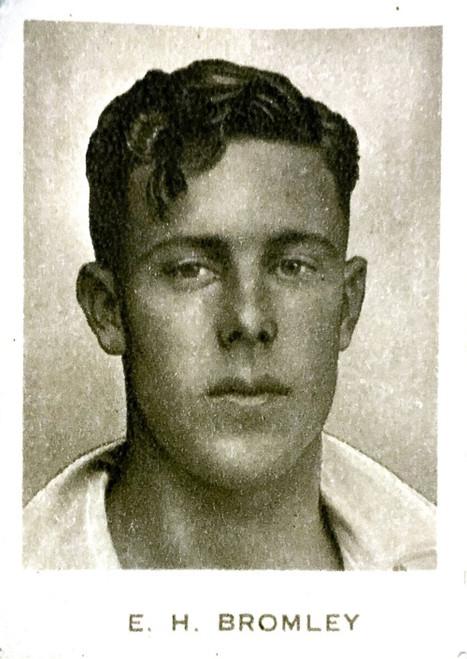 1934 Dudgeon & Arnell (Patrol Tobacco) #13 E H BROMLEY Australian Test Team Card