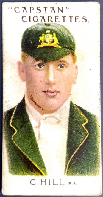 1907 Capstan Cigarettes C HILL S.A. Australian & English Cricketeers Card