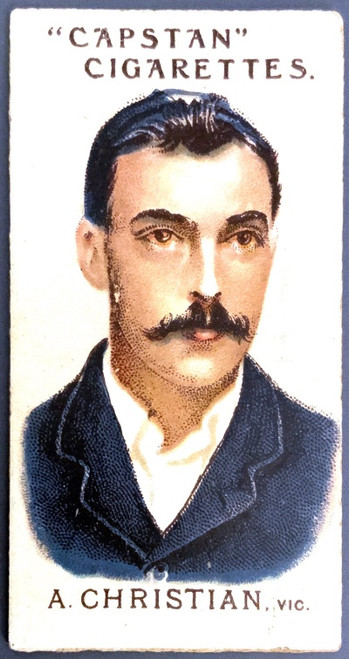 1907 Capstan Cigarettes A CHRISTAIN VIC Australian & English Cricketers Card