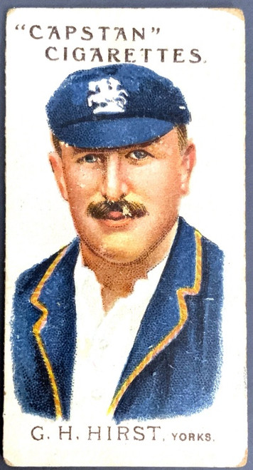 1907 Capstan Cigarettes G H HIRST Yorks. Australian & English Cricketers Card