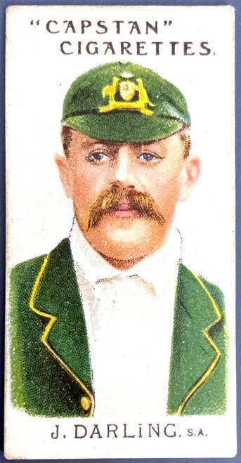 1907 Capstan Cigarettes J DARLING SA Australian & English Cricketers Card