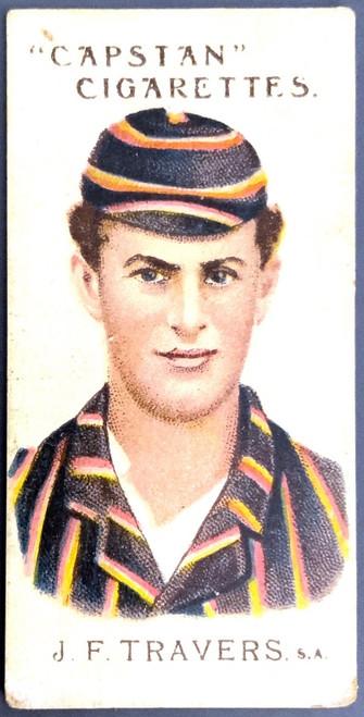 1907 Capstan Cigarettes J F TRAVERS SA Australian & English Cricketers Card