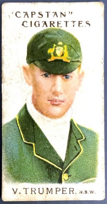 1907 Capstan Cigarettes V TRUMPER NSW Australian & English Cricketers Card