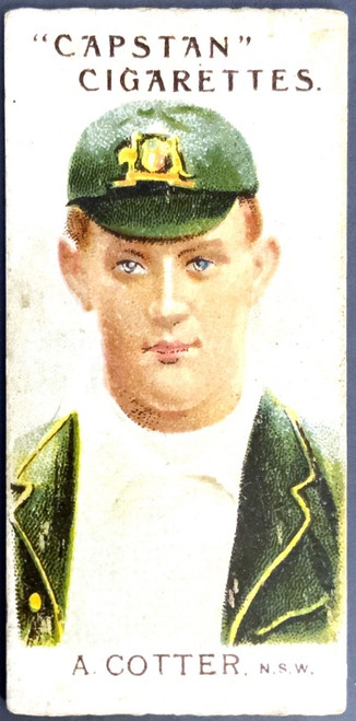 1907 Capstan Cigarettes A COTTER NSW Australian & English Cricketers Card