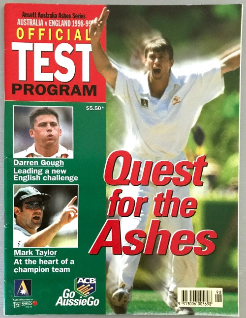 AUSTRALIA v ENGLAND 1998-99 OFFICIAL TEST PROGRAM
