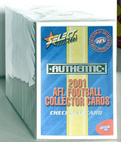 2001 AFL SELECT AUTHENTIC SERIES 220 CARD BASE SET