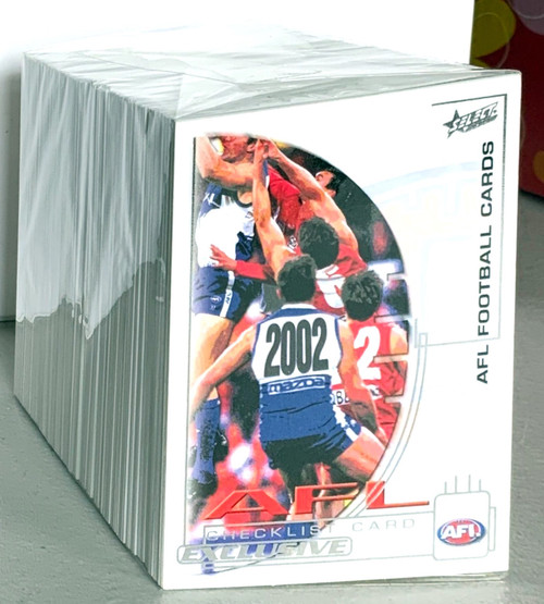 2002 AFL SELECT EXCLUSIVE SILVER SERIES 220 CARD BASE SET