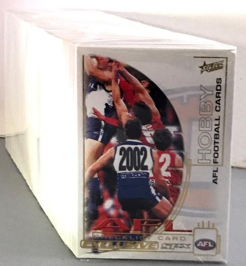 2002 AFL SELECT SPX GOLD SERIES 220 CARD BASE SET