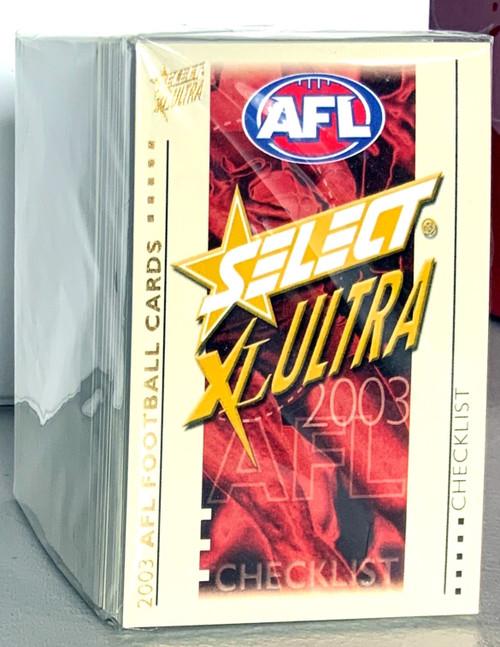 2003 AFL SELECT XL ULTRA SERIES 162 CARD BASE SET