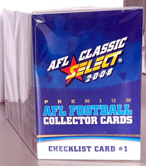 2008 AFL SELECT CLASSIC SERIES 185 CARD BASE SET