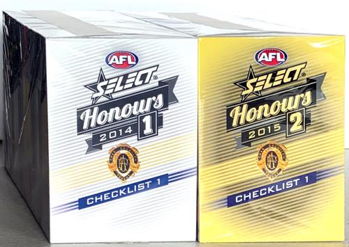 2014 & 2015 AFL SELECT HONOURS BASE SETS