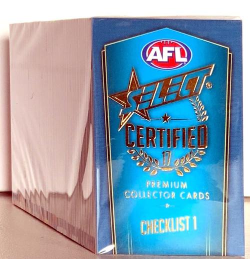 2017 AFL SELECT CERTIFIED 220 CARD BASE SET