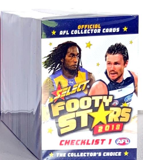 2018 AFL SELECT FOOTY STARS 254 CARD BASE SET