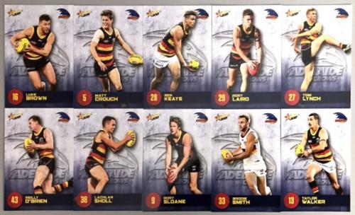 2021 AFL SELECT  FOOTY STARS ADELAIDE CROWS BASE TEAM SET