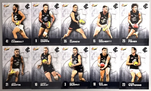 2021 AFL SELECT  FOOTY STARS CARLTON BLUES BASE TEAM SET