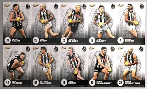 2021 AFL SELECT  FOOTY STARS COLLINGWOOD MAGPIES BASE TEAM SET