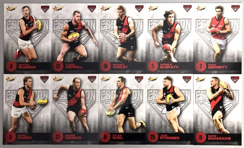 2021 AFL SELECT  FOOTY STARS ESSENDON BOMBERS BASE TEAM SET