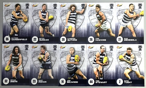 2021 AFL SELECT  FOOTY STARS GEELONG CATS BASE TEAM SET