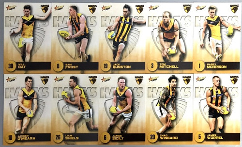 2021 AFL SELECT  FOOTY STARS HAWTHORN HAWKS BASE TEAM SET