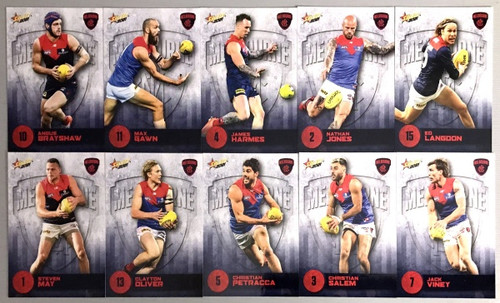 2021 AFL SELECT  FOOTY STARS MELBOURNE DEMONS BASE TEAM SET