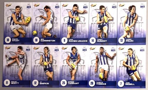 2021 AFL SELECT  FOOTY STARS NORTH MELBOURNE KANGAROOS BASE TEAM SET