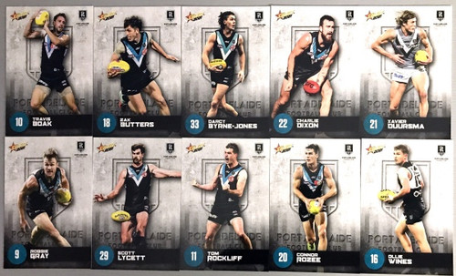 2021 AFL SELECT  FOOTY STARS PORT ADELAIDE POWER BASE TEAM SET