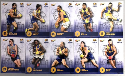 2021 AFL SELECT  FOOTY STARS WEST COAST EAGLES BASE TEAM SET