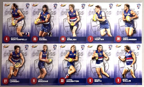 2021 AFL SELECT  FOOTY STARS WESTERN BULLDOGS BASE TEAM SET