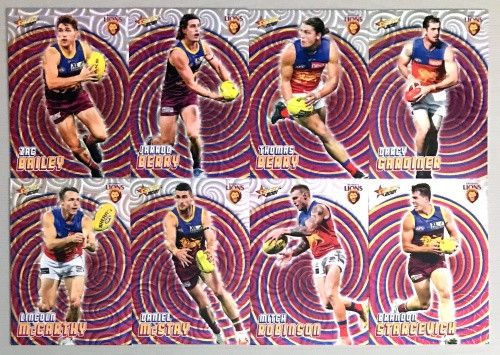 2021 AFL SELECT FOOTY STARS BRISBANE LIONS HOLOGRAPHIC TEAM SET