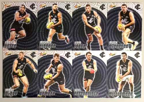 2021 AFL SELECT FOOTY STARS CARLTON BLUES HOLOGRAPHIC TEAM SET