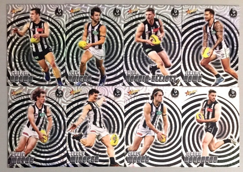 2021 AFL SELECT FOOTY STARS COLLINGWOOD MAGPIES HOLOGRAPHIC TEAM SET