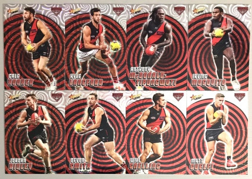 2021 AFL SELECT FOOTY STARS ESSENDON BOMBERS HOLOGRAPHIC TEAM SET
