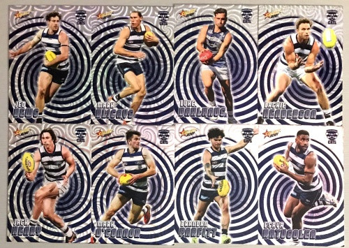 2021 AFL SELECT FOOTY STARS GEELONG CATS HOLOGRAPHIC TEAM SET