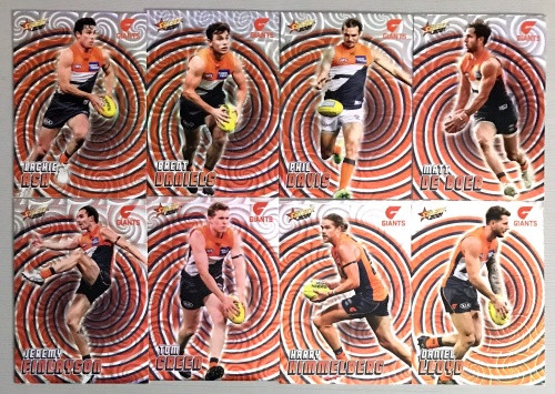 2021 AFL SELECT FOOTY STARS GREATER WESTERN SYDNEY GIANTS HOLOGRAPHIC TEAM SET