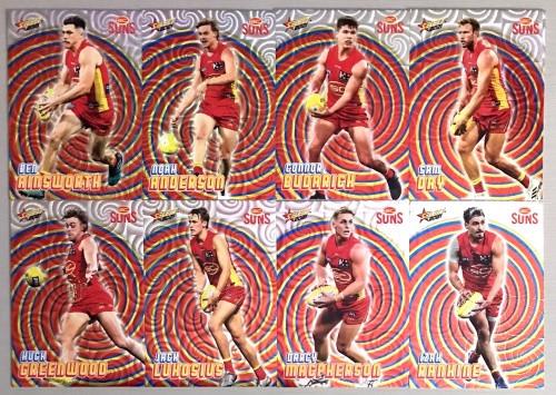 2021 AFL SELECT FOOTY STARS GOLD COAST SUNS HOLOGRAPHIC TEAM SET