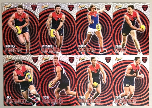 2021 AFL SELECT FOOTY STARS MELBOURNE DEMONS HOLOGRAPHIC TEAM SET