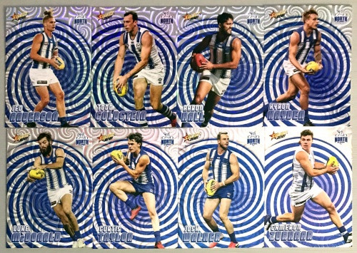 2021 AFL SELECT FOOTY STARS NORTH MELBOURNE KANGAROOS HOLOGRAPHIC TEAM SET