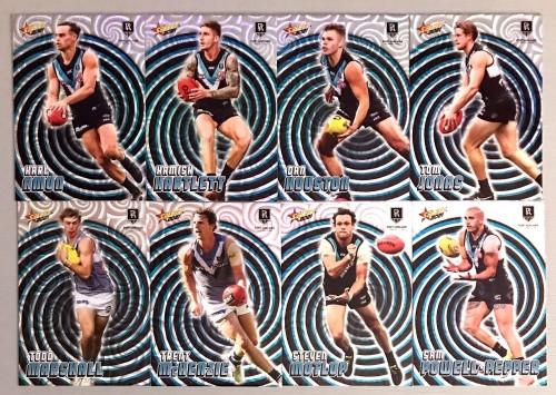 2021 AFL SELECT FOOTY STARS PORT ADELAIDE POWER HOLOGRAPHIC TEAM SET