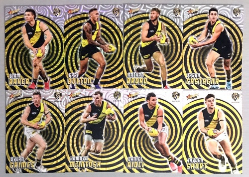 2021 AFL SELECT FOOTY STARS RICHMOND TIGERS HOLOGRAPHIC TEAM SET