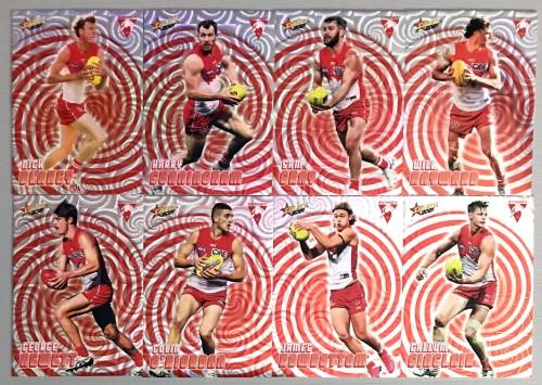 2021 AFL SELECT FOOTY STARS SYDNEY SWANS HOLOGRAPHIC TEAM SET