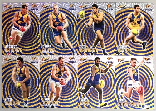 2021 AFL SELECT FOOTY STARS WEST COAST EAGLES HOLOGRAPHIC TEAM SET