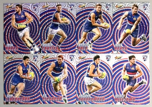 2021 AFL SELECT FOOTY STARS WESTERN BULLDOGS HOLOGRAPHIC TEAM SET