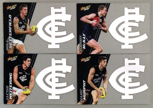 2021 AFL SELECT FOOTY STARS CARLTON BLUES CLUB ACETATE SET