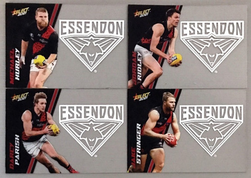 2021 AFL SELECT FOOTY STARS ESSENDON BOMBERS CLUB ACETATE SET