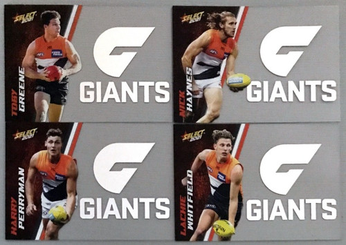 2021 AFL SELECT FOOTY STARS GREATER WESTERN SYDNEY GIANTS CLUB ACETATE SET