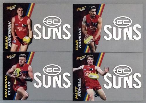 2021 AFL SELECT FOOTY STARS GOLD COAST SUNS CLUB ACETATE SET