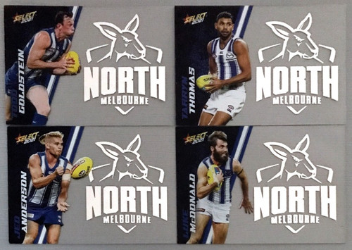 2021 AFL SELECT FOOTY STARS NORTH MELBOURNE KANGAROOS CLUB ACETATE SET